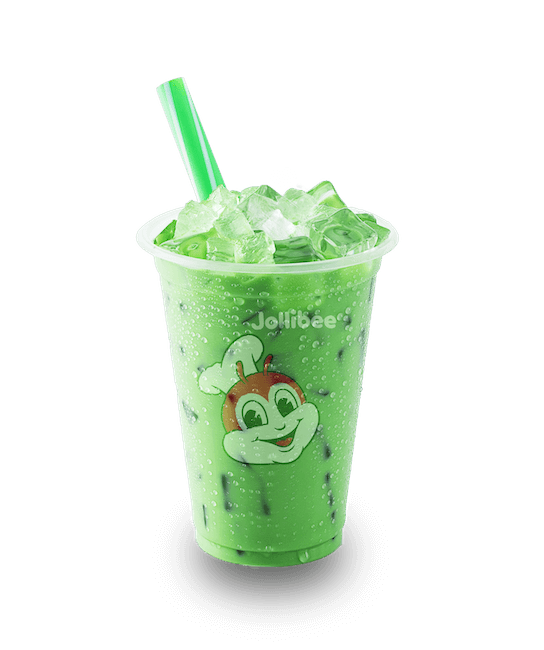 Green Milk Tea with Jelly (regular)